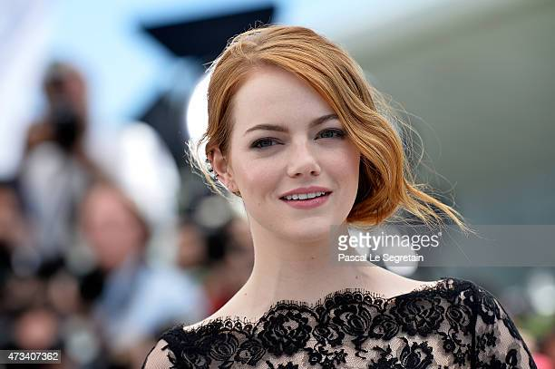Actress Emma Stone attends a photocall for 'Irrational Man' during the 68th annual Cannes Film Festival on May 15 2015 in Cannes France