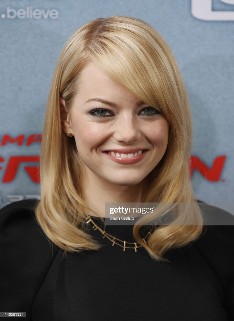 Actress Emma Stone attends a photocall for 'The Amazing Spider-Man' at the Adlon Hotel on June 20, 2012 in Berlin, Germany.