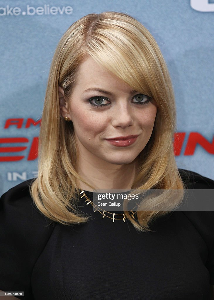 Actress <a gi-track='captionPersonalityLinkClicked' href=/galleries/search?phrase=Emma+Stone&family=editorial&specificpeople=672023 ng-click='$event.stopPropagation()'>Emma Stone</a> attends a photocall for 'The Amazing Spider-Man' at the Adlon Hotel on June 20, 2012 in Berlin, Germany.