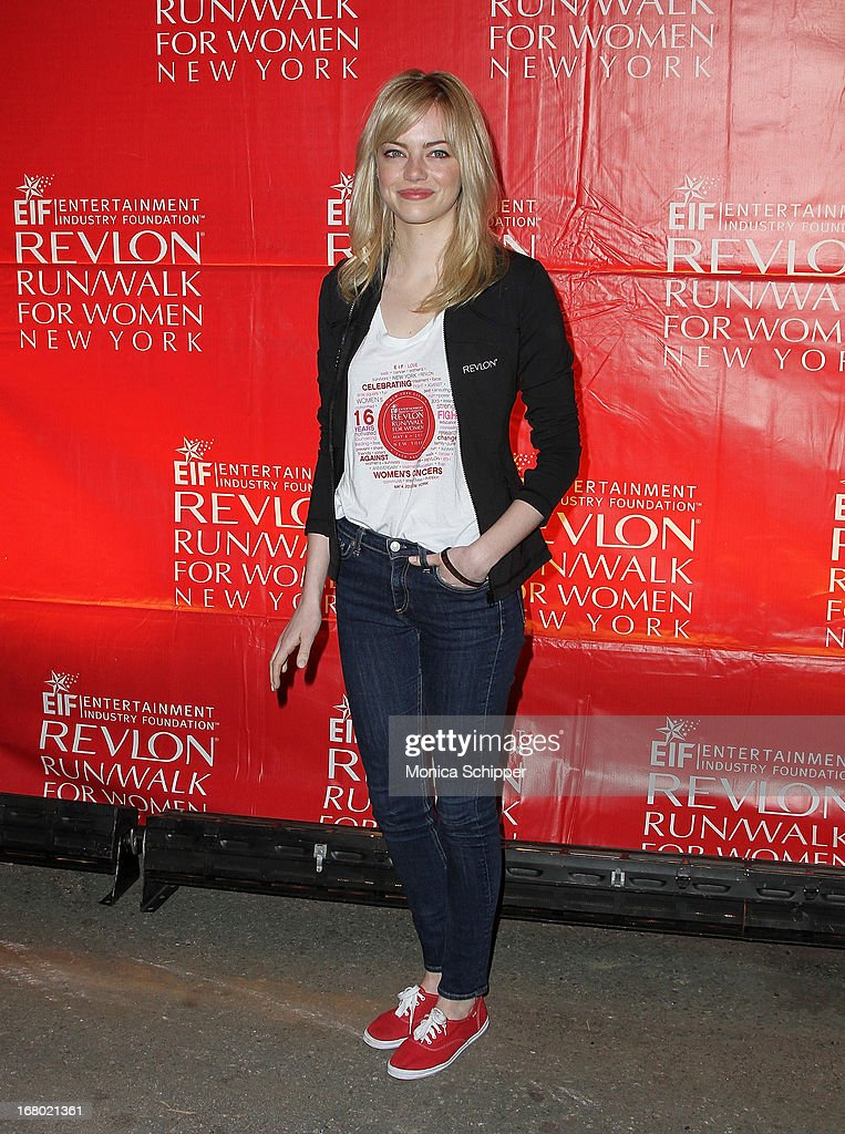Actress Emma Stone attends the 16th annual EIF Revlon Run/Walk for Women in Times Square on May 4, 2013 in New York City.