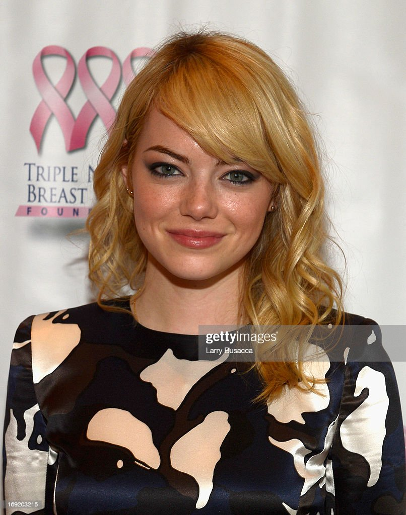 Actress <a gi-track='captionPersonalityLinkClicked' href=/galleries/search?phrase=Emma+Stone&family=editorial&specificpeople=672023 ng-click='$event.stopPropagation()'>Emma Stone</a> attends the 2013 Peace, Love & A Cure Triple Negative Breast Cancer Foundation Benefit on May 21, 2013 in Cresskill, New Jersey.