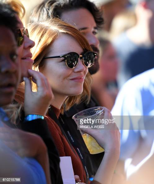 Actress Emma Stone attends the 2016 Global Citizen Festival in Central Park to end extreme poverty by 2030 at Central Park on September 24 2016 in...