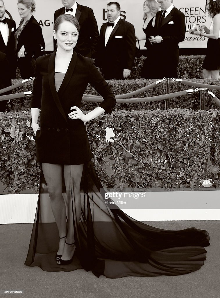 Actress Emma Stone attends the 21st Annual Screen Actors Guild Awards at The Shrine Auditorium on January 25, 2015 in Los Angeles, California.