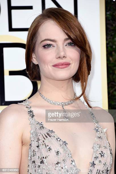 Actress Emma Stone attends the 74th Annual Golden Globe Awards at The Beverly Hilton Hotel on January 8 2017 in Beverly Hills California