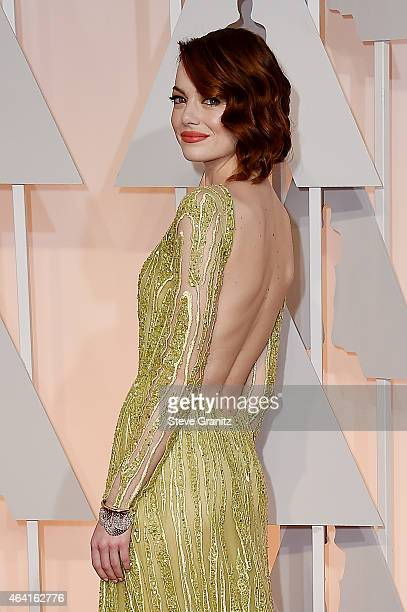Actress Emma Stone attends the 87th Annual Academy Awards at Hollywood Highland Center on February 22 2015 in Hollywood California