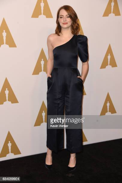 Actress Emma Stone attends the 89th Annual Academy Awards Nominee Luncheon at The Beverly Hilton Hotel on February 6 2017 in Beverly Hills California