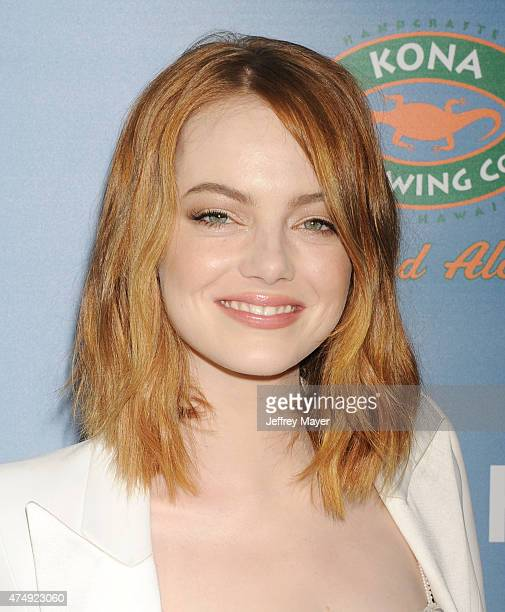 Actress Emma Stone attends the 'Aloha' Los Angeles premiere at The London Hotel West Hollywood on May 27 2015 in West Hollywood California