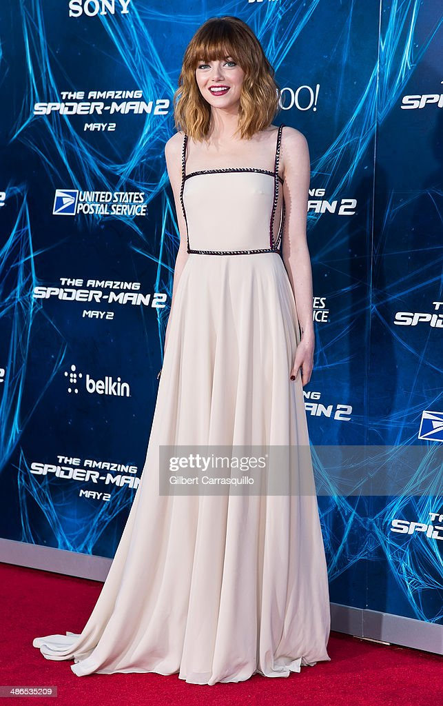 Actress <a gi-track='captionPersonalityLinkClicked' href=/galleries/search?phrase=Emma+Stone&family=editorial&specificpeople=672023 ng-click='$event.stopPropagation()'>Emma Stone</a> attends 'The Amazing Spider-Man 2' premiere at the Ziegfeld Theater on April 24, 2014 in New York City.