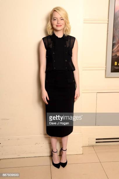 Actress Emma Stone attends the Battle Of The Sexes BAFTA Screening and QA at 20th Century Fox Film Co Ltd on December 7 2017 in London England