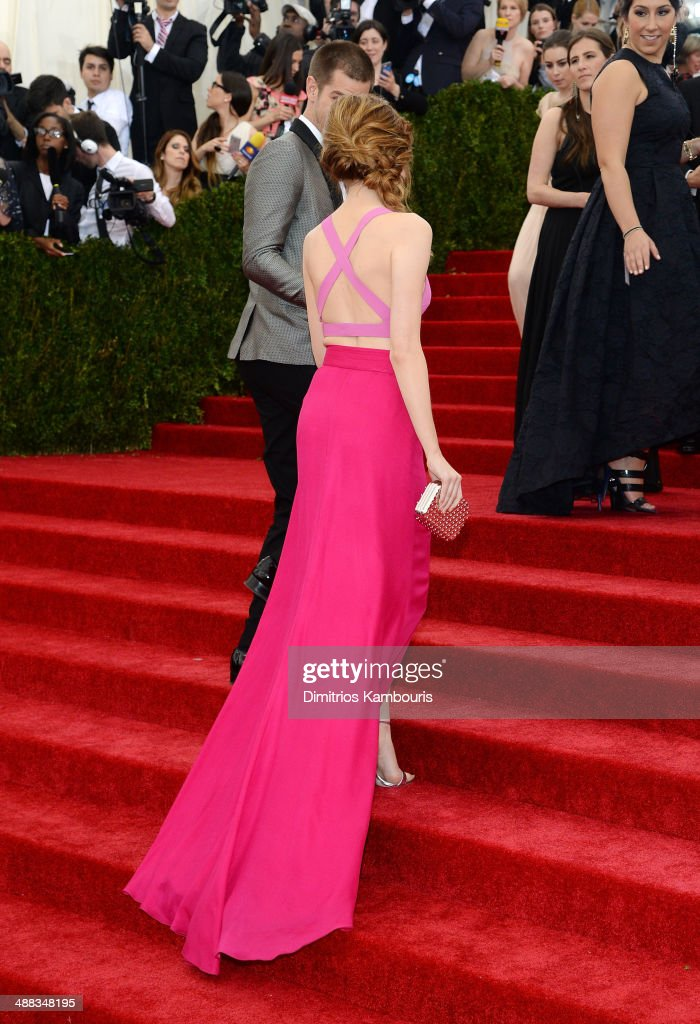 Actress Emma Stone attends the 'Charles James: Beyond Fashion' Costume Institute Gala at the Metropolitan Museum of Art on May 5, 2014 in New York City.