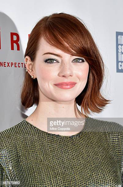 Actress Emma Stone attends the Closing Night Gala Presentation of 'Birdman Or The Unexpected Virtue Of Ignorance' during the 52nd New York Film...