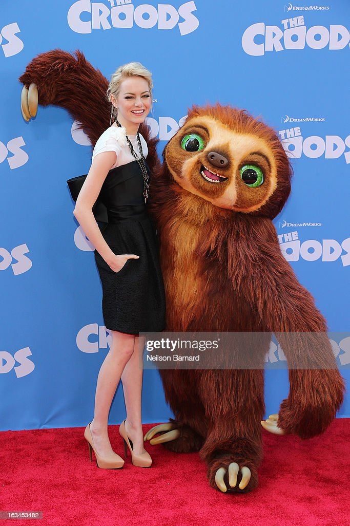 Actress Emma Stone attends 'The Croods' premiere at AMC Loews Lincoln Square 13 theater on March 10, 2013 in New York City.