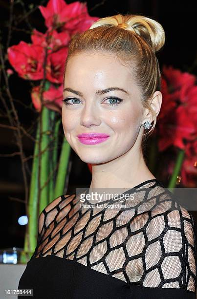 Actress Emma Stone attends 'The Croods' Premiere during the 63rd Berlinale International Film Festival at Berlinale Palast on February 15 2013 in...