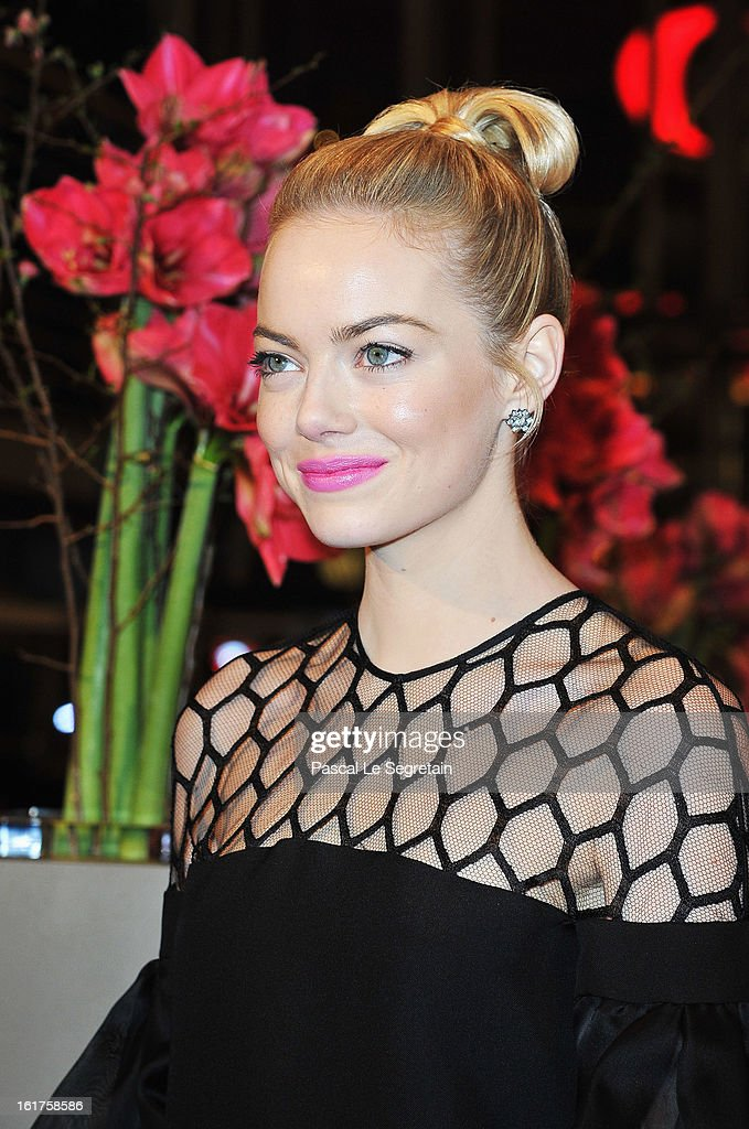 Actress Emma Stone attends 'The Croods' Premiere during the 63rd Berlinale International Film Festival at Berlinale Palast on February 15, 2013 in Berlin, Germany.