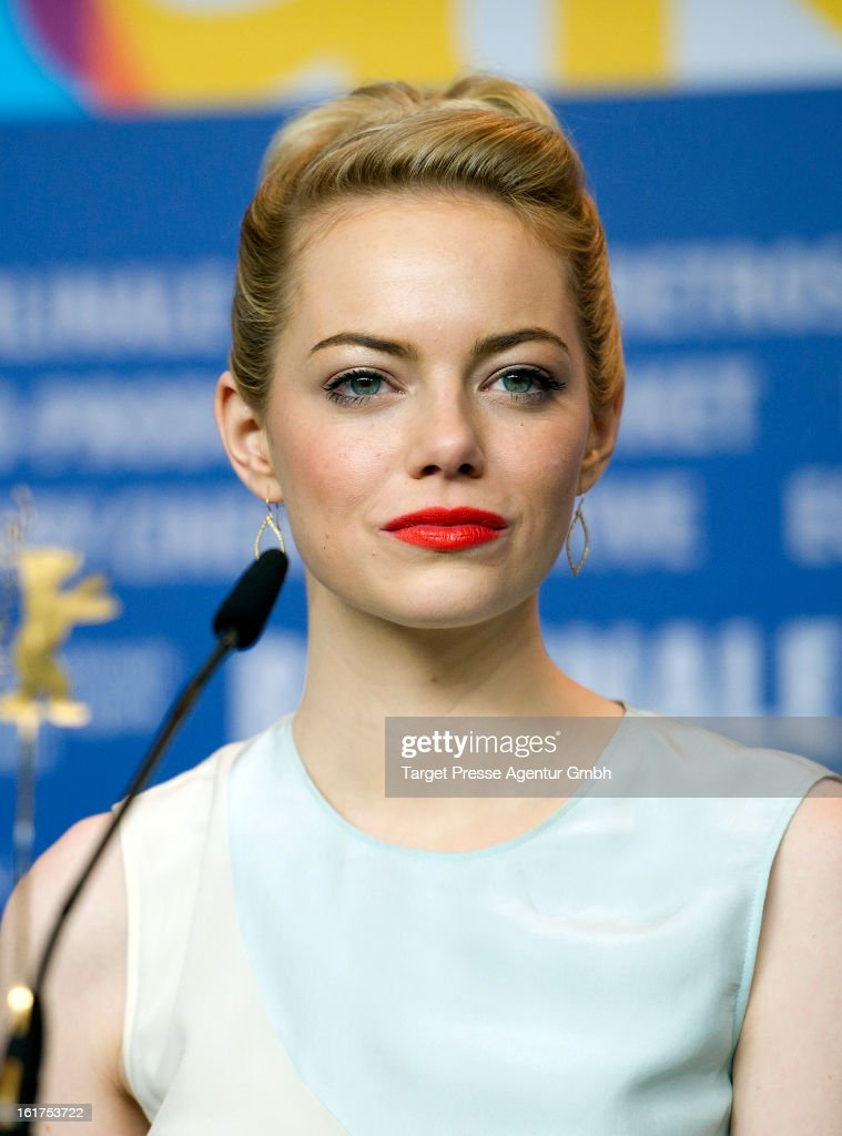 Actress Emma Stone attends 'The Croods' Press Conference during the 63rd Berlinale International Film Festival on February 15 2013 in Berlin Germany
