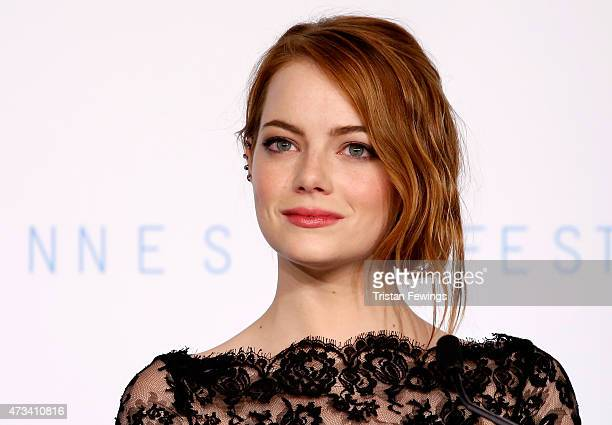 Actress Emma Stone attends the 'Irrational Man' press Conference during the 68th annual Cannes Film Festival on May 15 2015 in Cannes France