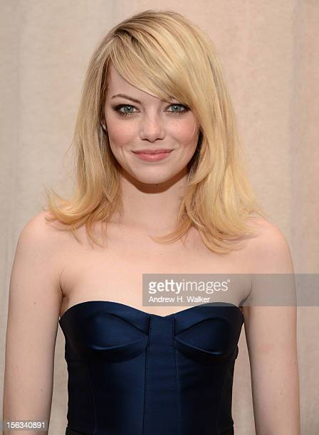 Actress Emma Stone attends The Ninth Annual CFDA/Vogue Fashion Fund Awards at 548 West 22nd Street on November 13 2012 in New York City