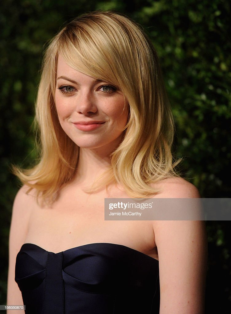 Actress <a gi-track='captionPersonalityLinkClicked' href=/galleries/search?phrase=Emma+Stone&family=editorial&specificpeople=672023 ng-click='$event.stopPropagation()'>Emma Stone</a> attends The Ninth Annual CFDA/Vogue Fashion Fund Awards at 548 West 22nd Street on November 13, 2012 in New York City.