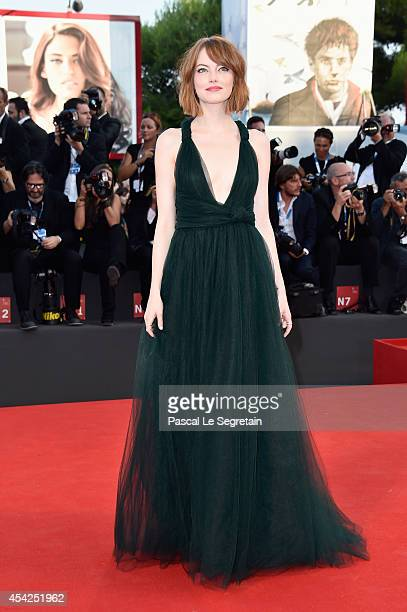 Actress Emma Stone attends the Opening Ceremony and 'Birdman' premiere during the 71st Venice Film Festival on August 27 2014 in Venice Italy