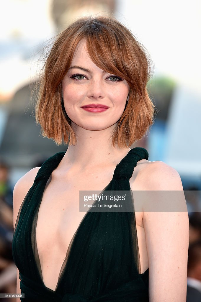 Actress Emma Stone attends the Opening Ceremony and 'Birdman' premiere during the 71st Venice Film Festival on August 27, 2014 in Venice, Italy.