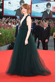 Actress Emma Stone attends the Opening Ceremony and 'Birdman' premiere during the 71st Venice Film Festival at Palazzo Del Cinema on August 27 2014...