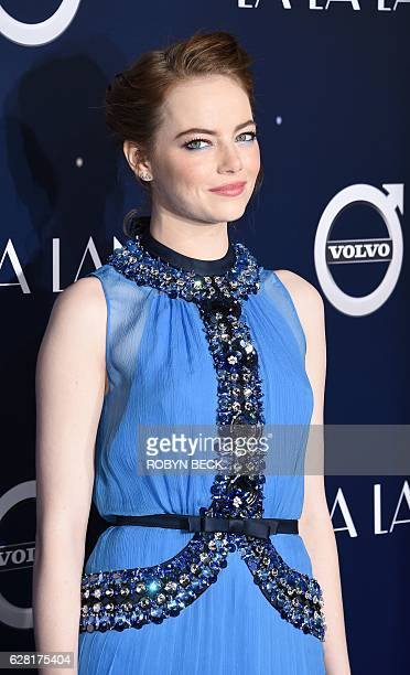 Actress Emma Stone attends the premiere of Lionsgate's 'La La Land' in the Westwood area of Los Angeles California December 6 2016 / AFP / Robyn Beck