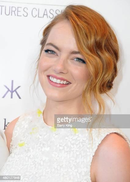 Actress Emma Stone attends the premiere of Sony Pictures Classics' 'Irrational Man' at the WGA Theatre on July 9 2015 in Beverly Hills California