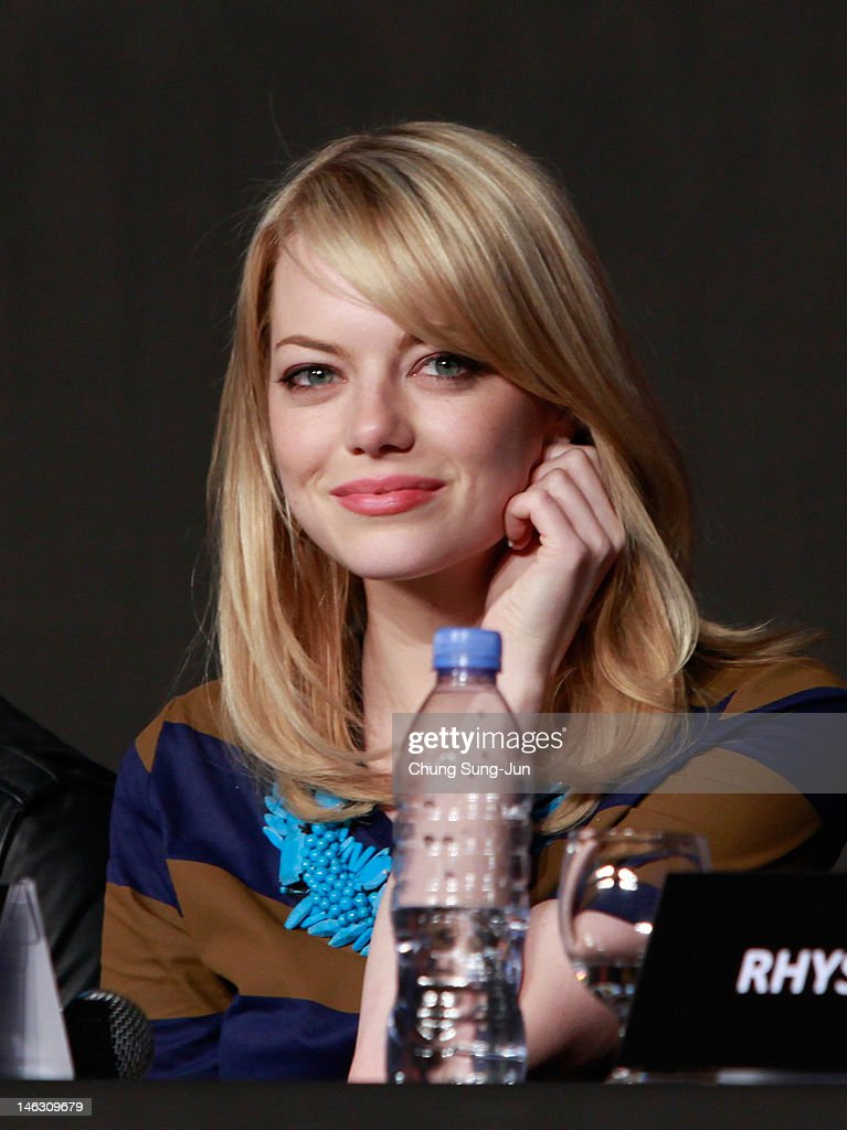 Actress Emma Stone attends the 'The Amazing Spider-Man' Press Conference on June 14, 2012 in Seoul, South Korea. The film will open on June 28 in South Korea.
