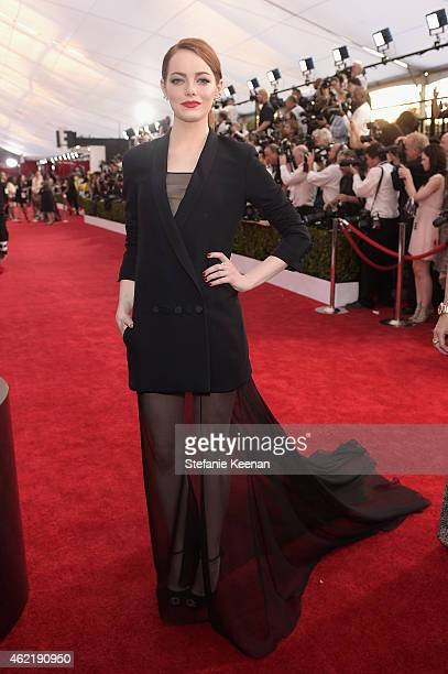 Actress Emma Stone attends TNT's 21st Annual Screen Actors Guild Awards at The Shrine Auditorium on January 25 2015 in Los Angeles California...