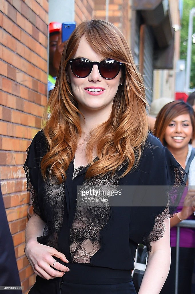 Actress <a gi-track='captionPersonalityLinkClicked' href=/galleries/search?phrase=Emma+Stone&family=editorial&specificpeople=672023 ng-click='$event.stopPropagation()'>Emma Stone</a> is seen on July 17, 2014 in New York City.