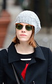 Actress Emma Stone is seen walking in the West Village on November 25 2014 in New York City