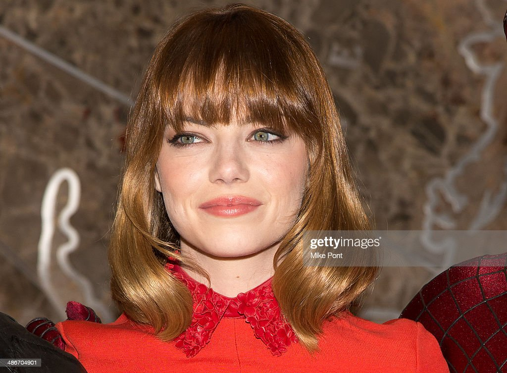 Actress <a gi-track='captionPersonalityLinkClicked' href=/galleries/search?phrase=Emma+Stone&family=editorial&specificpeople=672023 ng-click='$event.stopPropagation()'>Emma Stone</a> visits The Empire State Building on April 25, 2014 in New York City.
