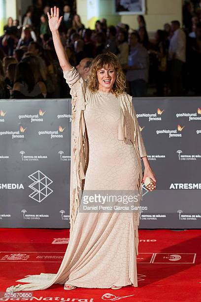 Actress Emma Suarez attends 'La Ultima Piel' premiere at the Cervantes Teather during the 19th Malaga Film Festival on April 28 2016 in Malaga Spain