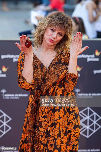 Actress Emma Suarez attends 'Nuestros Amantes' premiere during the 19th Malaga Film Festival at the Cervantes Teather on April 30 2016 in Malaga Spain