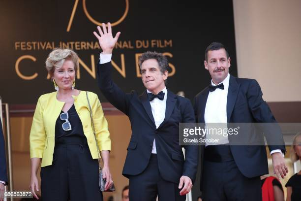 Actress Emma Thompson actor Ben Stiller and actor Adam Sandler of 'The Meyerowitz Stories' attend the 'The Meyerowitz Stories' screening during the...
