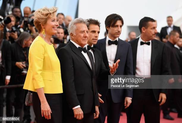 Actress Emma Thompson actor Dustin Hoffman actor Ben Stiller director Noah Baumbach and actor Adam Sandler of 'The Meyerowitz Stories' attend the...