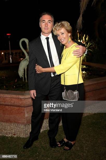 Actress Emma Thompson and her husband actor Greg Wise attend the Netflix party during the 70th annual Cannes Film Festival at on May 21 2017 in...