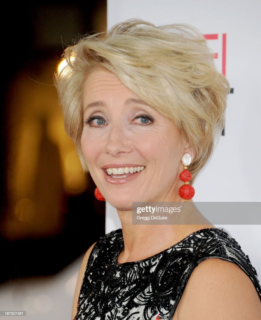 Actress Emma Thompson arrives at AFI FEST 2013 Opening Night Gala premiere of 'Saving Mr. Banks' at TCL Chinese Theatre on November 7, 2013 in Hollywood, California.