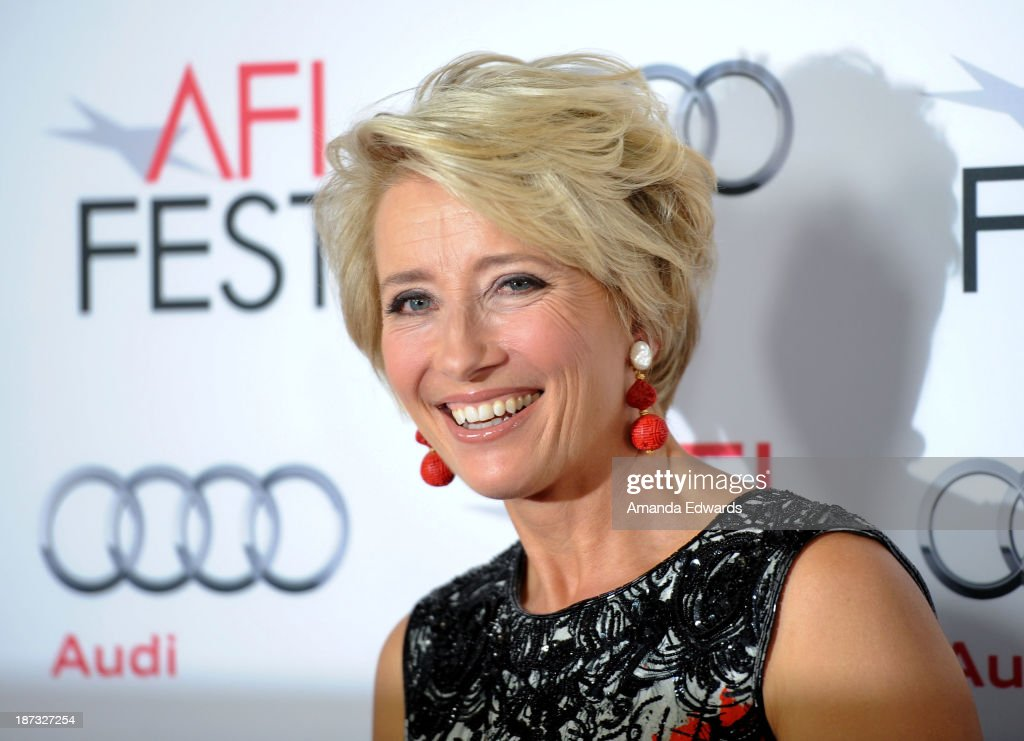 Actress <a gi-track='captionPersonalityLinkClicked' href=/galleries/search?phrase=Emma+Thompson&family=editorial&specificpeople=202848 ng-click='$event.stopPropagation()'>Emma Thompson</a> arrives at the AFI FEST 2013 Presented By Audi - Disney's 'Saving Mr. Banks' Opening Night Gala Premiere at the TCL Chinese Theatre on November 7, 2013 in Hollywood, California.