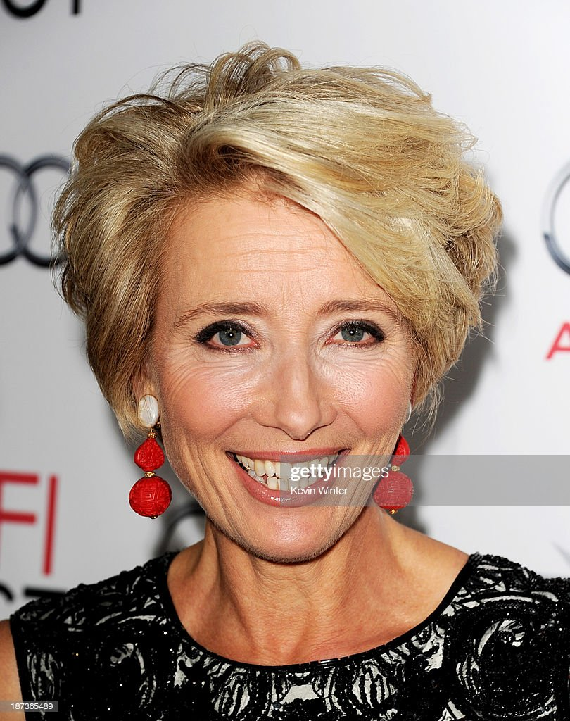 Actress <a gi-track='captionPersonalityLinkClicked' href=/galleries/search?phrase=Emma+Thompson&family=editorial&specificpeople=202848 ng-click='$event.stopPropagation()'>Emma Thompson</a> arrives at the premiere of Walt Disney Pictures' 'Saving Mr. Banks' during AFI FEST 2013 presented by Audi at the Chinese Theatre on November 7, 2013 in Hollywood, California.