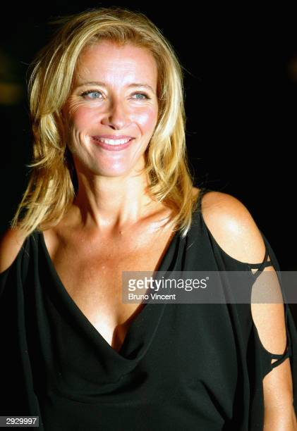 Actress Emma Thompson arrives at the 'Sony Ericsson Empire Film Awards' on February 4 2004 at The Dorchester Hotel in London