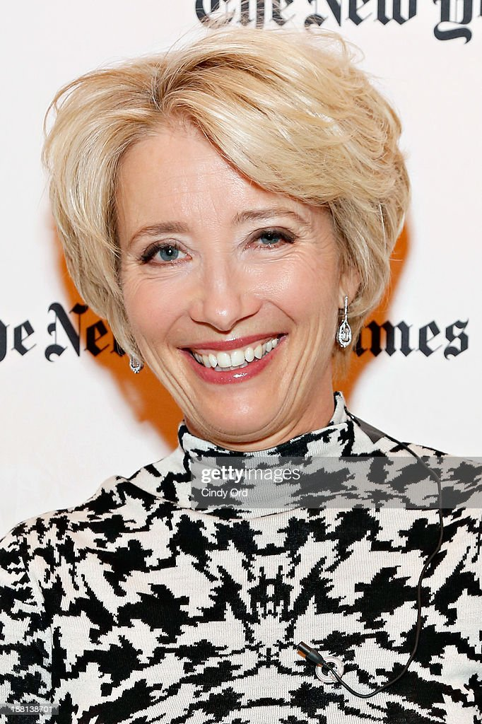 Actress <a gi-track='captionPersonalityLinkClicked' href=/galleries/search?phrase=Emma+Thompson&family=editorial&specificpeople=202848 ng-click='$event.stopPropagation()'>Emma Thompson</a> attends as The New York Times and The Academy of Motion Picture Arts and Sciences host a conversation with <a gi-track='captionPersonalityLinkClicked' href=/galleries/search?phrase=Emma+Thompson&family=editorial&specificpeople=202848 ng-click='$event.stopPropagation()'>Emma Thompson</a>, star of Walt Disney Studios Motion Pictures' 'Saving Mr. Banks' moderated by Janet Maslin on November 15, 2013 in New York City.