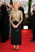 Actress Emma Thompson attends the 71st Annual Golden Globe Awards held at The Beverly Hilton Hotel on January 12 2014 in Beverly Hills California