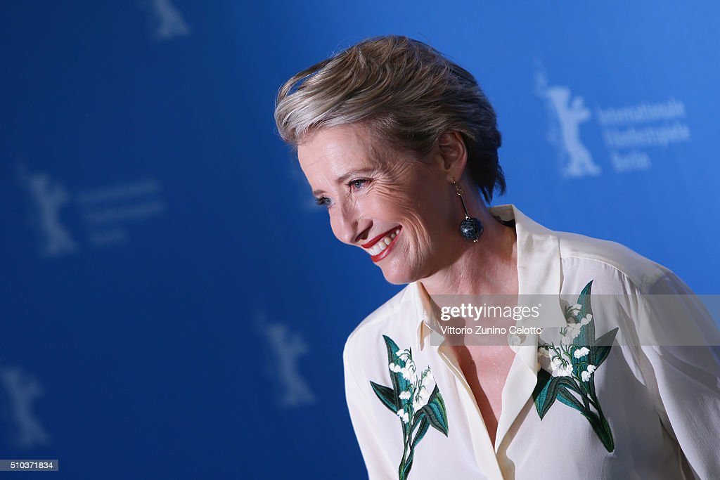 Actress Emma Thompson attends the 'Alone in Berlin' (Jeder stirbt fuer sich) photo call during the 66th Berlinale International Film Festival Berlin at Grand Hyatt Hotel on February 15, 2016 in Berlin, Germany.