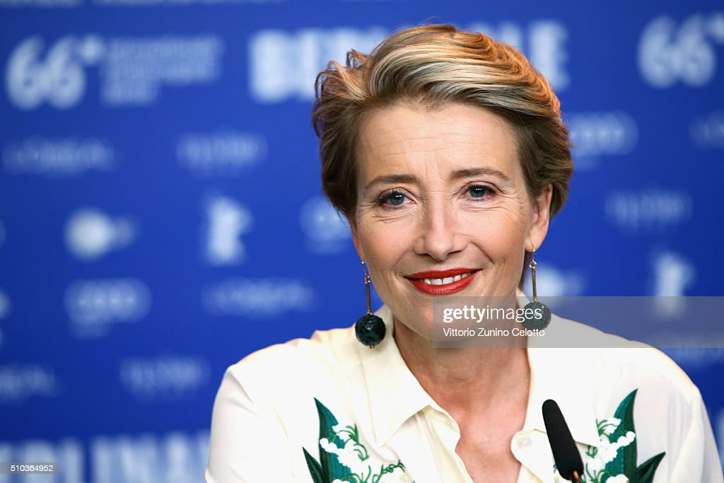 Actress Emma Thompson attends the 'Alone in Berlin' (Jeder stirbt fuer sich) press conference during the 66th Berlinale International Film Festival Berlin at Grand Hyatt Hotel on February 15, 2016 in Berlin, Germany.