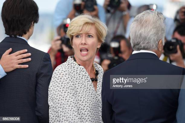 Actress Emma Thompson attends 'The Meyerowitz Stories' photocall during the 70th annual Cannes Film Festival at Palais des Festivals on May 21 2017...