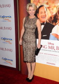 Actress Emma Thompson attends the premiere of 'Saving Mr Banks' at Walt Disney Studios on December 9 2013 in Burbank California
