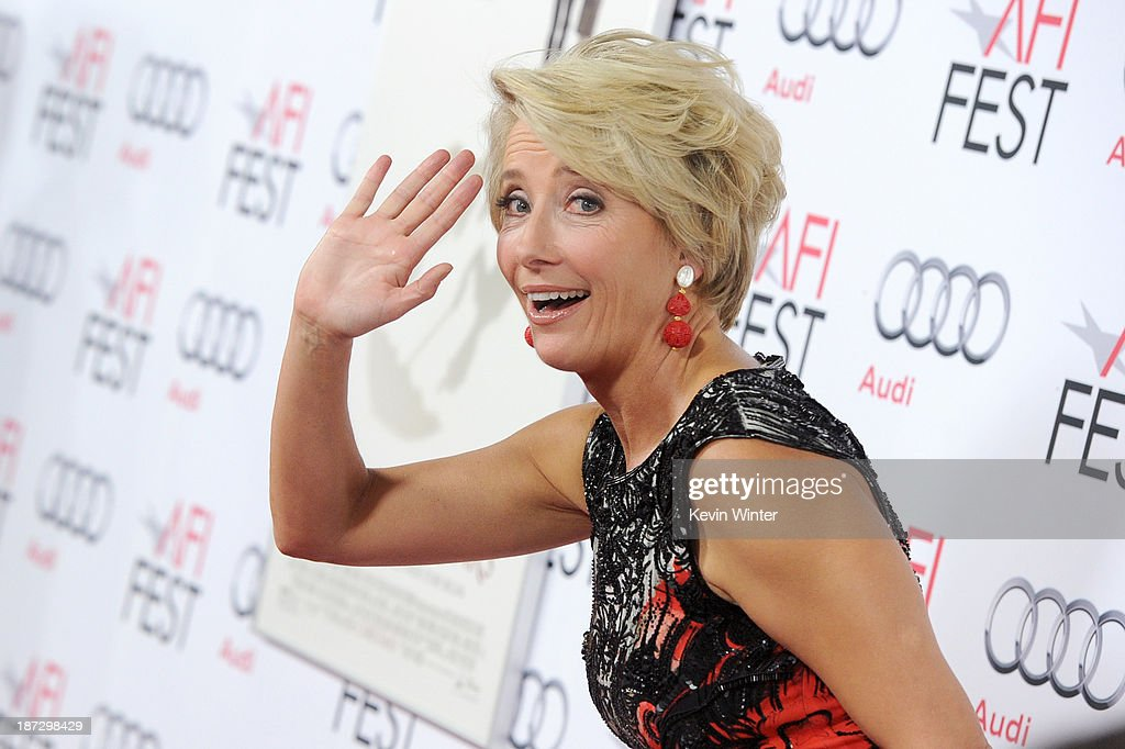Actress <a gi-track='captionPersonalityLinkClicked' href=/galleries/search?phrase=Emma+Thompson&family=editorial&specificpeople=202848 ng-click='$event.stopPropagation()'>Emma Thompson</a> attends the premiere of Walt Disney Pictures' 'Saving Mr. Banks' during AFI FEST 2013 presented by Audi at TCL Chinese Theatre on November 7, 2013 in Hollywood, California.