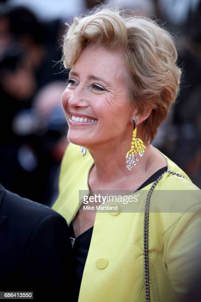 Actress Emma Thompson attends the 'The Meyerowitz Stories' screening during the 70th annual Cannes Film Festival at Palais des Festivals on May 21...