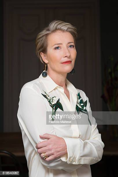 Actress Emma Thompson is photographed for The Hollywood Reporter on February 15 2016 in Berlin Germany